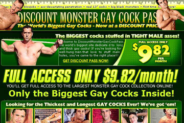 Visit Discount Monster Gay Cock Pass
